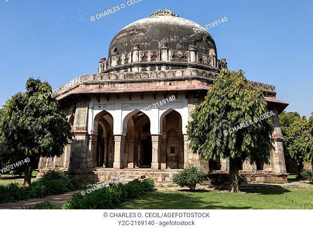 New Delhi, India. Lodi Gardens. Tomb of Sikandar Lodi, Second Ruler of the Lodi Dynasty. Reigned 1489-1517