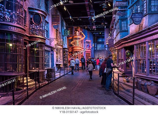 Diagon Alley, Making of Harry Potter, Warner Bros. Studio Tour, Leavesden, London