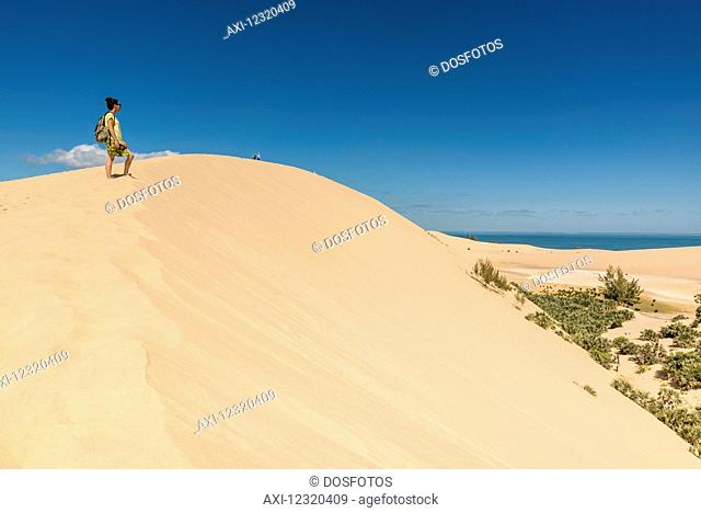 Dune at Bazaruto Island, the largest island in the Bazaruto Archipelago; Bazaruto Island, Mozambique