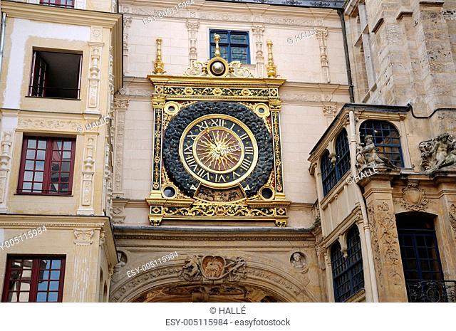 Normandy, Le Gros Horloge, the symbol of Rouen