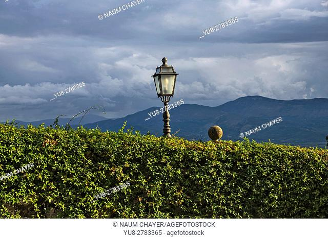 View from Abbey of Montecassino, Cassino, Italy, Europe