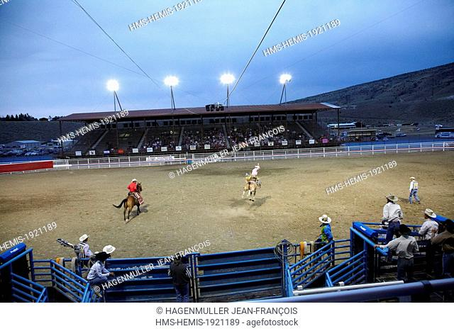 United States, Wyoming, rodeo in Cody town