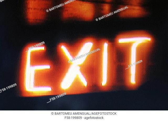'Exit' street sign