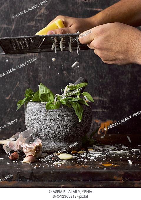 Fresh basil pesto with Parmesan