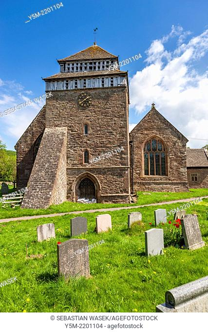 The 13th century St Bridget's Church, Skenfrith, Monmouthshire, Wales, United Kingdom, Europe