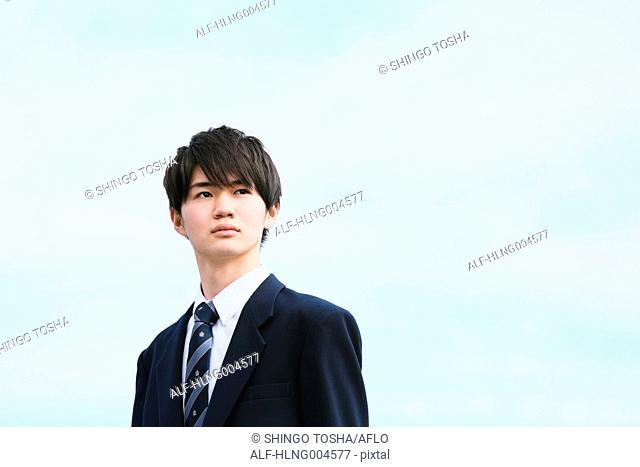 Japanese high-school student portrait