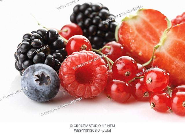 Fresh wild berries, close-up