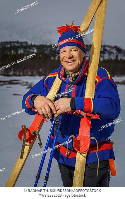 Cross country skiing, Lapland, Sweden