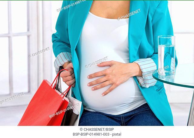 7 months pregnant woman