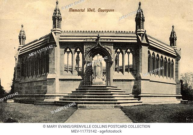 Monument designed by Carlo Marochetti and erected at Kanpur (Cawnpore) at the Site of the Bibighar Well, scene of the Bibighar (Bibigurh) Massacre of 1857