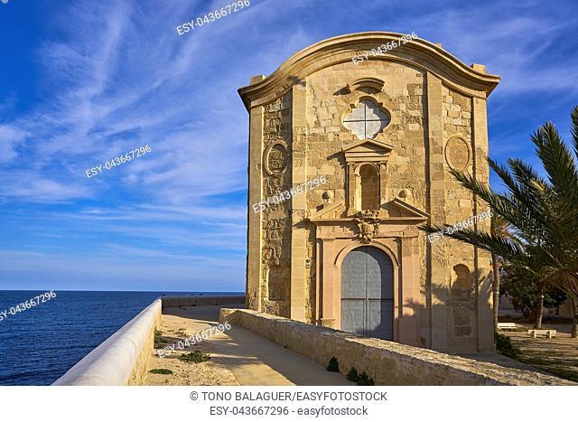 Nova Tabarca church of San Pedro Pablo in Alicante Spain