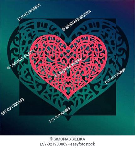 Vector ornament Valentine's heart