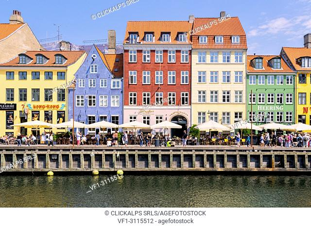 Nyhavn, Copenhagen, Hovedstaden, Denmark, Northern Europe