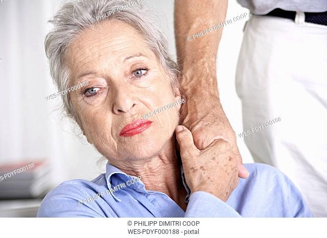 Spain, Mallorca, Senior couple holding hands, close up
