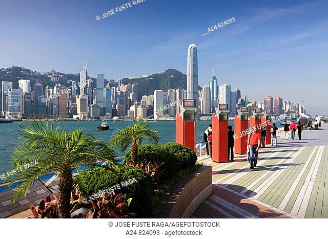 East Tsim Sha Tsui promenade, Kowloon district, Hong Kong, China (November 2008)