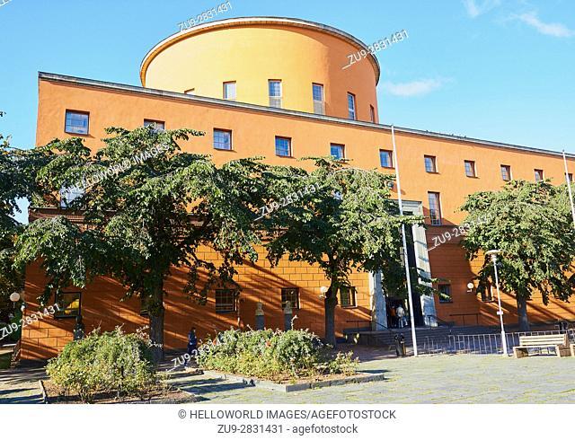 Stadsbibliotek (Stockholm Public Library), designed by Swedish architect Gunnar Asplund (1928), Stockholm, Sweden, Scandinavia