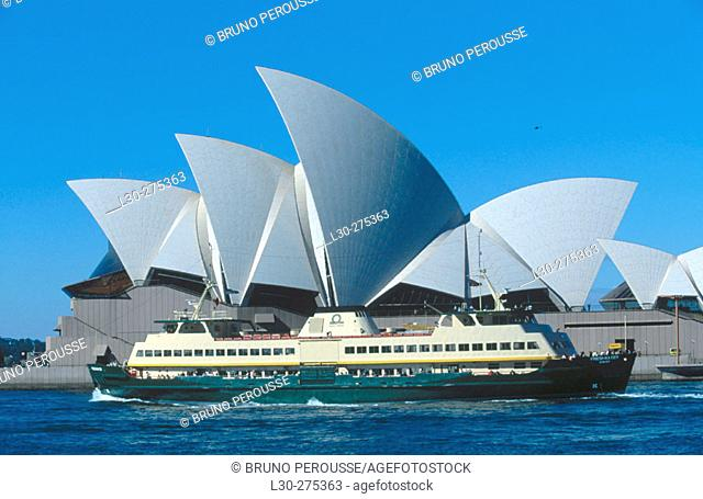 Sydney Opera House and ferry. Sydney. Austalia