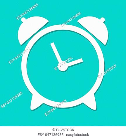 Wall clock icon Stock Photos and Images   age fotostock