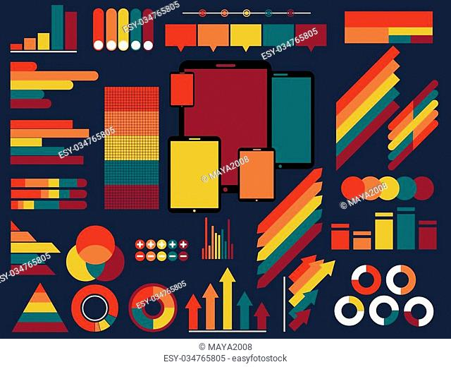 vector illustration of Infographic Elements Collection