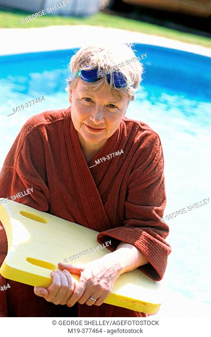 mature woman after a swiming workout