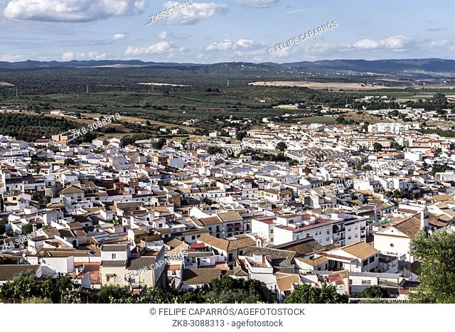 "View from the castle town of Almodovar del Rio, a Stage of the American producer HBO, for the series """"Game of Thrones"""""