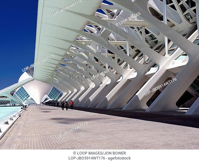 The Ciudad de las Artes y las Ciensias with covered walkways