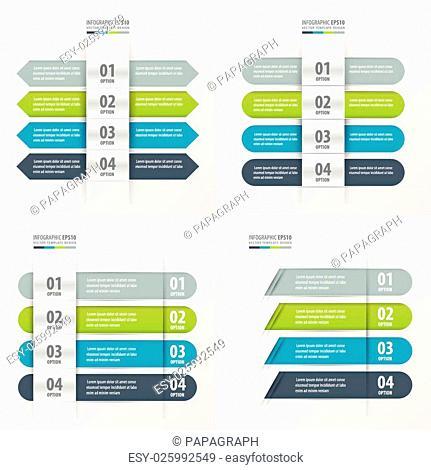 Banner Design set green, blue, gray color