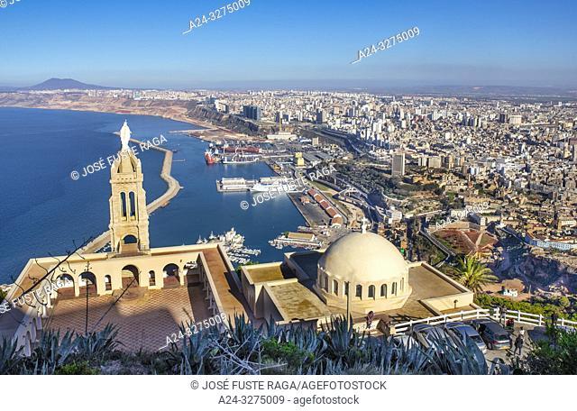 Algeria, Oran City, panorama from Djebel Murdjadjo mountain