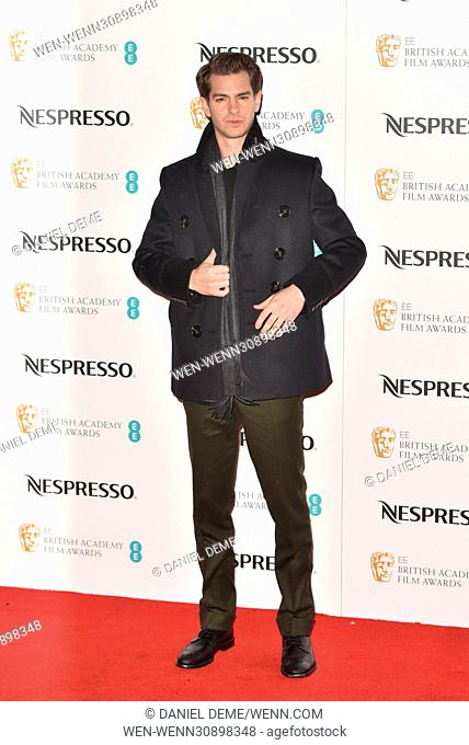BAFTA Nespresso Nominees' Party held at Kensington Palace - Arrivals Featuring: Andrew Garfield Where: London, United Kingdom When: 11 Feb 2017 Credit: Daniel...