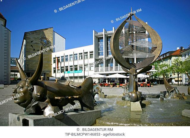 Deutschland, Baden-Wuerttemberg, Friedrichshafen am Bodensee, Germany Friedrichshafen at Lake Constanze