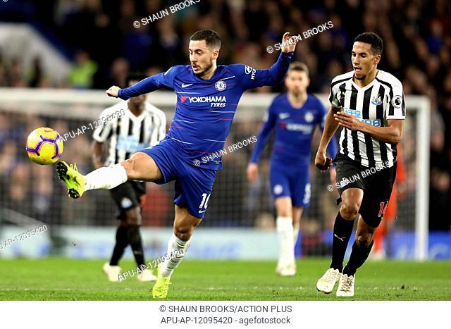 2019 EPL Premier League Football Chelsea v Newcastle Utd Jan 12th. 12th January 2019, Stamford Bridge, London, England; EPL Premier League football
