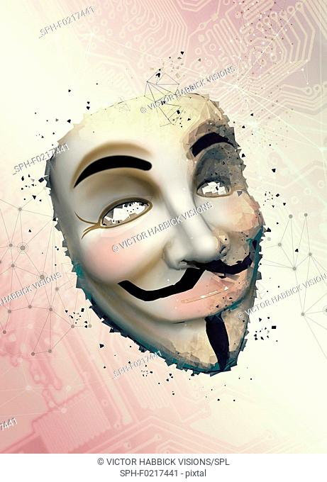 Vendetta mask, illustration