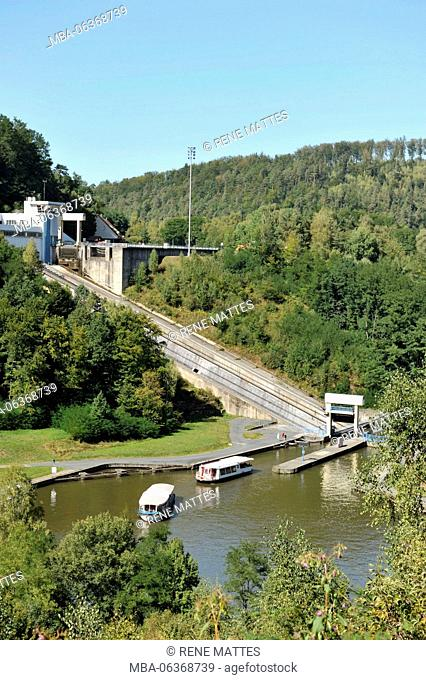 France, Moselle, Artzwiller, Plan incliné (Ship lift)
