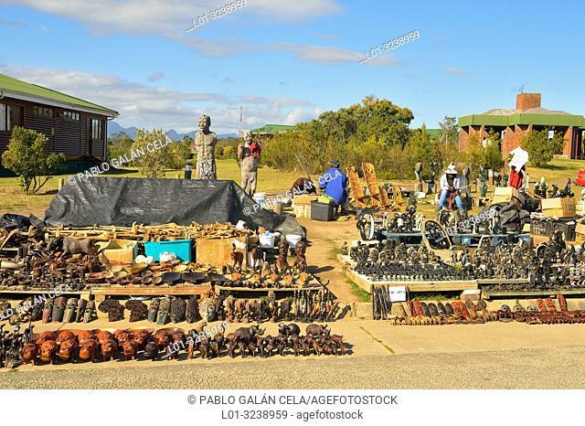 Souvenirs for tourists near Mossel Bay, South Africa