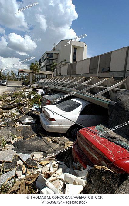 Hurricane Charley. Punta Gorda. Wreckage of Mr. Burton