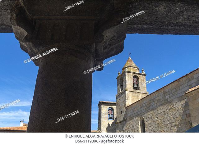 Sixteenth-century Gothic church, San Felices of Gallegos, Natural Park Arribes del Duero, Salamanca, Castilla y Leon, Spain, Europe
