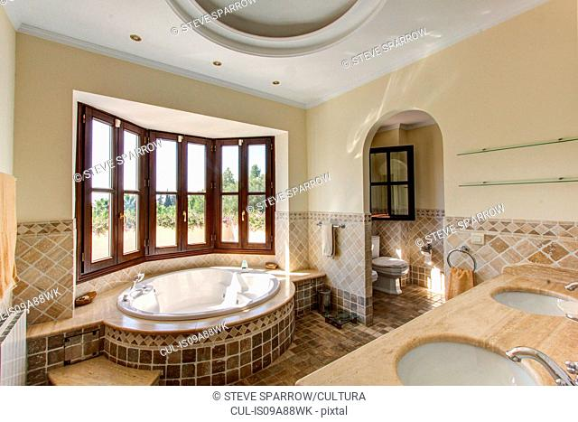 Luxury bathroom in villa