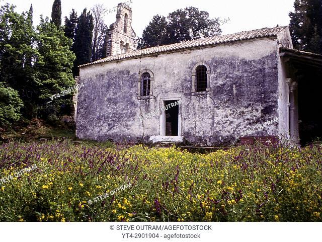 Abandoned 17thC Arkoudilas Monastery, Corfu, Greece