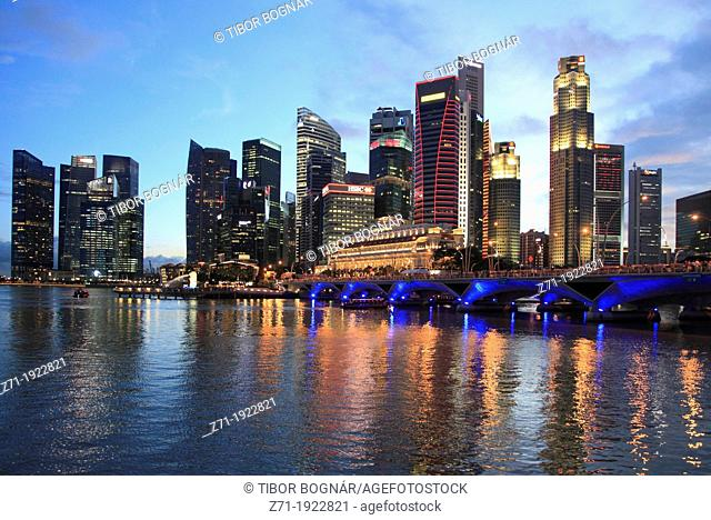Singapore, Central Business District, skyline