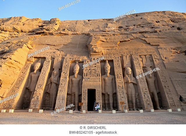 Small Hathor Temple of Nefertari, Egypt, Abu Simbel