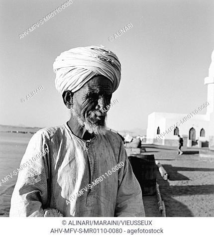 Portrait of an old Egyptian, shot 10-11/1955 by Maraini Fosco, Fosco Maraini/Gabinetto Vieusseux Property©Fratelli Alinari