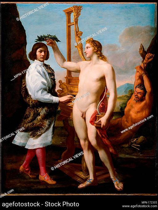 Marcantonio Pasqualini (1614-1691) Crowned by Apollo. Artist: Andrea Sacchi (Italian, Rome (?) ca. 1599-1661 Rome); Date: 1641; Medium: Oil on canvas;...