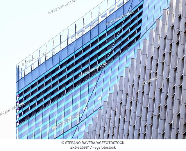 Detail of 10 Fenchurch Avenue building in the city of London - England