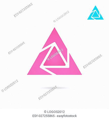 Delta letter logo on white background, d triangle sign, 2d raster