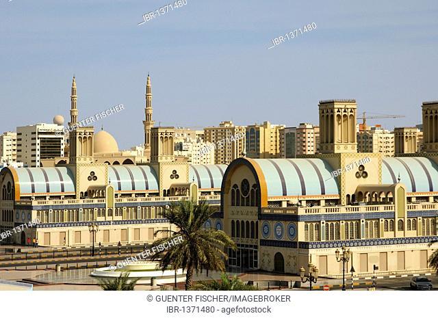 Souq al-Markazi, The Blue Souk, central market in Sharjah, the Emirate of Sharjah, United Arab Emirates, Middle East
