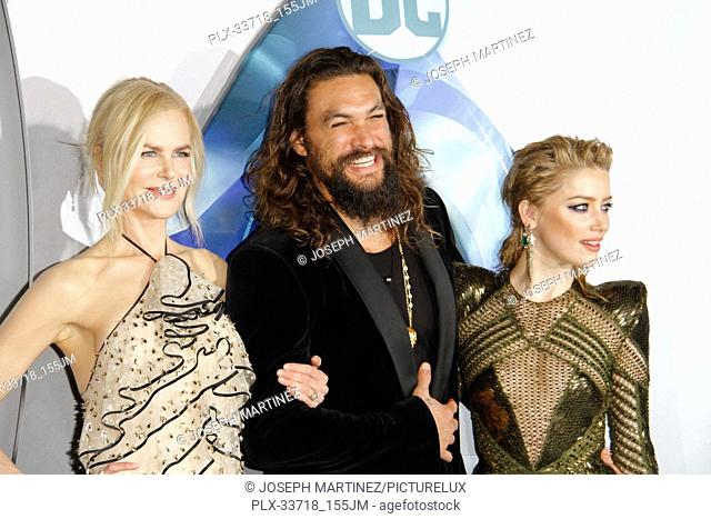 """Nicole Kidman, Jason Momoa, Amber Heard at the Premiere of Warner Bros' """"""""Aquaman"""""""" held at the TCL Chinese Theatre in Hollywood, CA, December 12, 2018"""