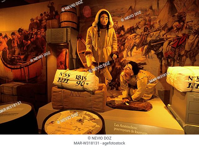 fur trade national historic site, lachine, montreal, quebec, canada