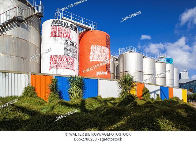 New Zealand, North Island, Auckland, Viaduct Harbour, former grain silos