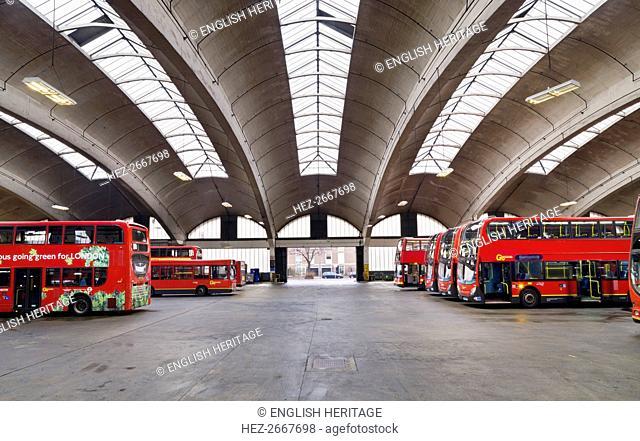 Stockwell Bus Garage, Binfield Road, Stockwell, Lambeth, London, 2010. Artist: James O Davies