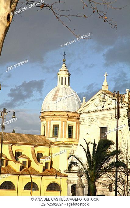 church San Rocco Facades in Rome Italy